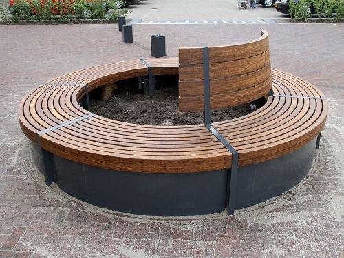 Ronde bank model Oka   Round bench model Oka