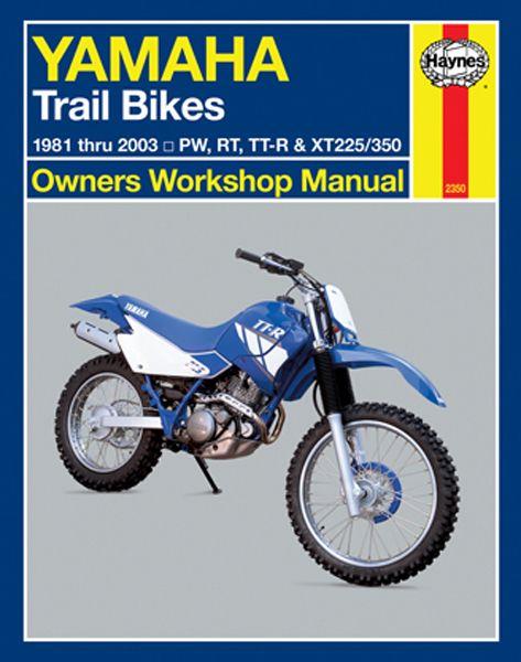 Haynes Yamaha Trail Bikes 1981-2003: Complete coverage for your Yamaha Trail Bikes covering PW RT TT-R and XT225/350 models for 1981 thru...