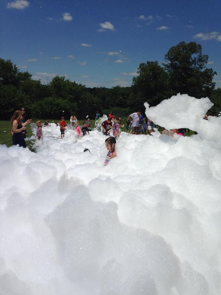 Foam Party Slip-N-Slide! Haha it looks awesome. But I'd never spend that much money/put that much effort into building it. Still, I thought I'd share. :)