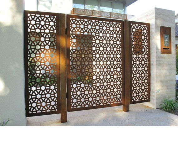 laser cut metal panel - want a smaller version of this pattern for foyer cabinet inserts