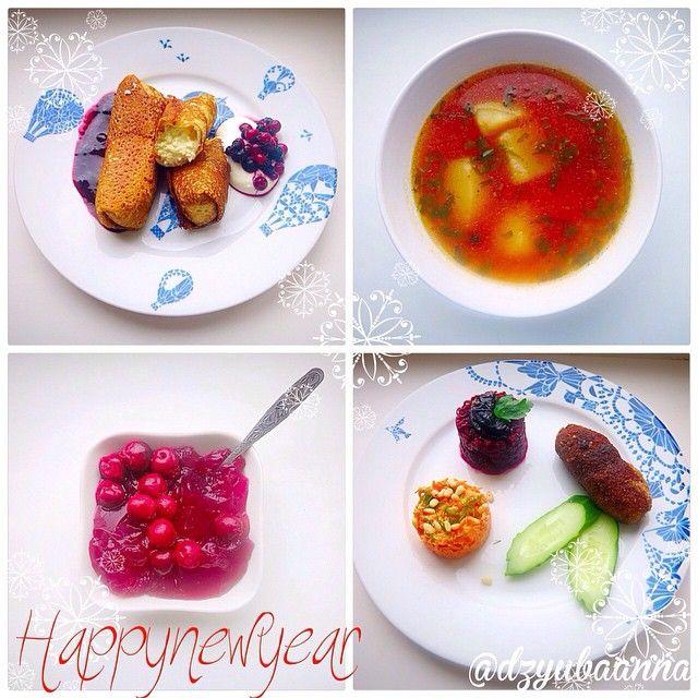 Комплекс 8 «Блинчики с творогом» «Вишневое желе» «Томатный супчик с картофелем и рисом» Домашние котлеты по-киевски»