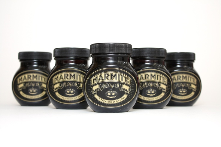 limited edition Marmite jars for Halloween by Machine, found on 10and5