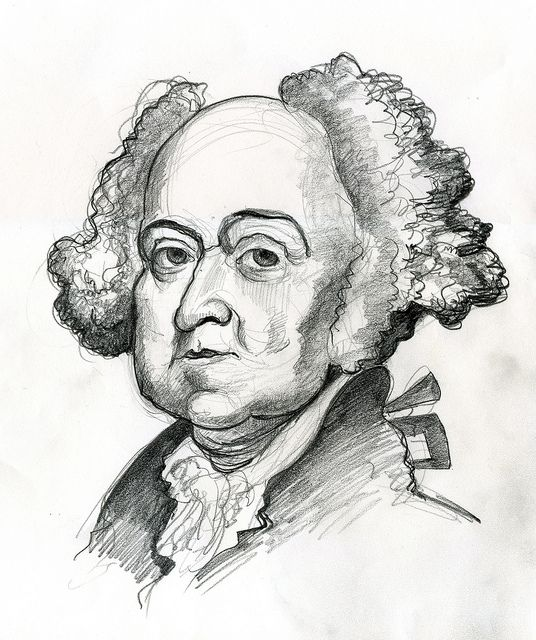 John Adams, second president of the United States 1797-1801.