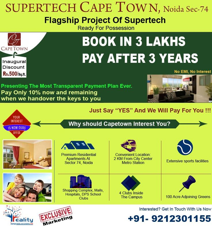 Book Your Dream Flat In Supertech Capetown Noida