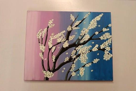 Blossoming Tree on Canvas