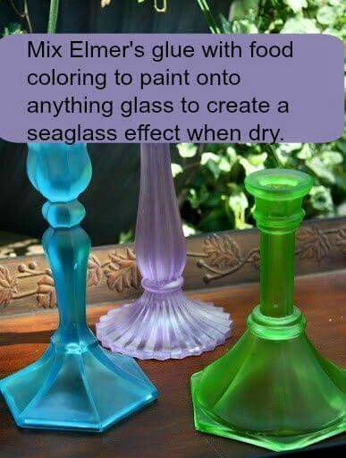 From Garden Whimsy by Mary. Seal your work with a semi-gloss spray paint or dish-washer safe Mod Podge.
