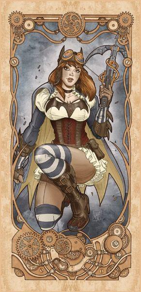 Steampunk Batgirl Nouveau by Luca Maresca