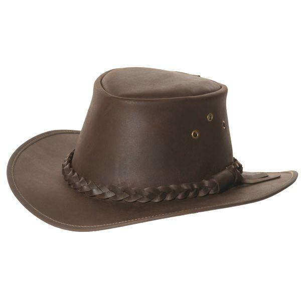 Chapeau australien en cuir #leather
