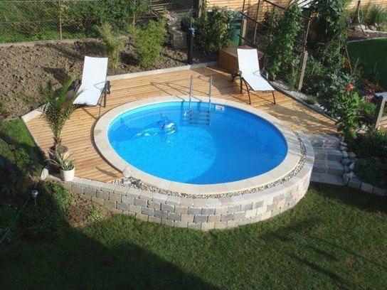 Stahlwandpool Rund Stahlwand Gartendeko Gartendesign Gartenideen In 2020 Backyard Pool Backyard Upgrades Diy Pool