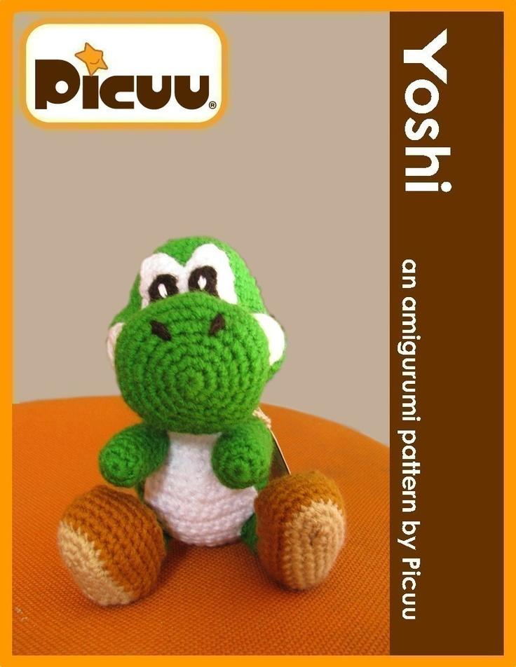 Knitting Patterns For Yoshi : PDF Amigurumi Pattern - Yoshi inspired doll Dinosaur ...