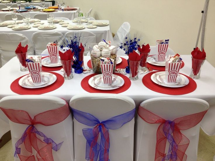 Image result for baseball table decorations