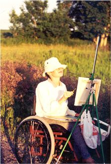 My very first time painting on location in Keoma, Alberta! Spring 1995