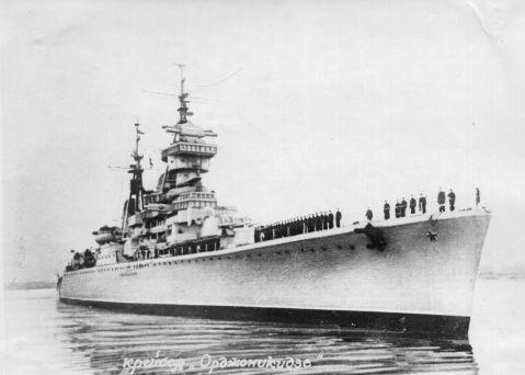 "Soviet Navy Sverdlov class cruiser ""Ordzhonikidze"" (google.image) 9.17"