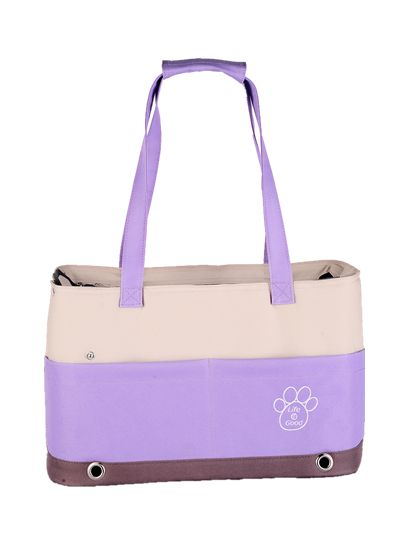 Lovely Purple Shoulder Carrier with Paw Print  42*21*27cm http://edenpetz.co.uk/cats/catcarriers/shoulderbagcarrier/colourfulbagspets