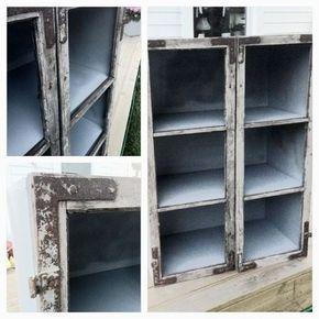 loppisverkstan - Vitrinskåp av gamla fönster.. del 1