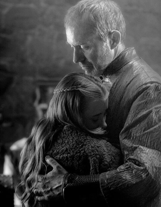 I loved this scene. It was nice to see Stanis not being such a hardass and loving with his daughter.