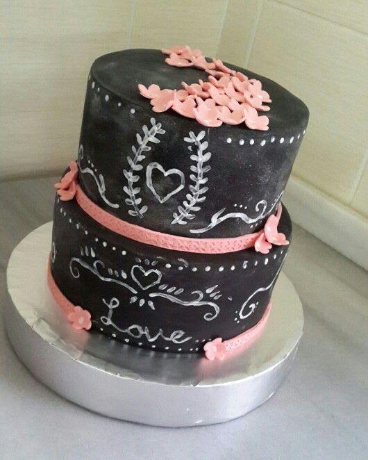 Kara tahta pasta çalışması, ellerinize sağlık :)