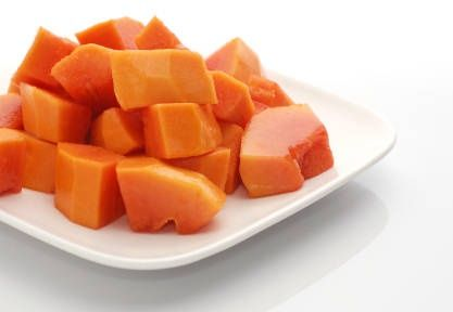 #Papaya offers excellent antioxidant benefits, helping skin get rid of toxins and wear a radiant look. Simply apply papaya pulp onto your face and neck, and relax for a few minutes, eyes closed. Wash off with tepid water, followed by a splash of cold water.