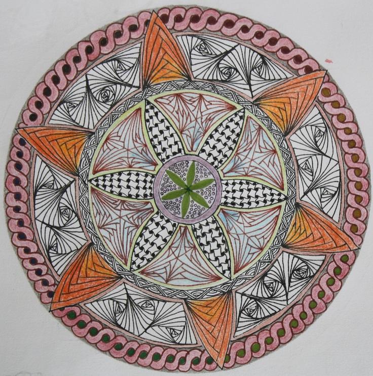 Mandala drawing. Losing myself in pattern making