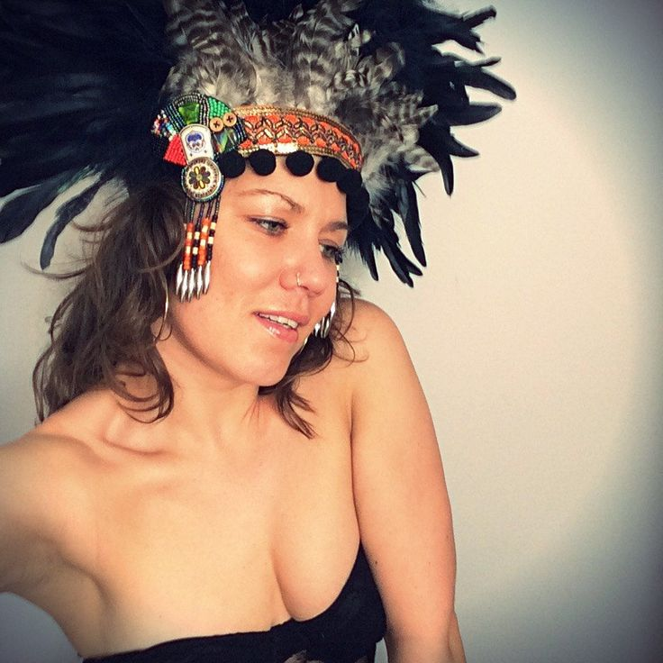 Festival feather tribal headdress. Burning Man inspired. #burnerbabes #burningman shop the look from my Etsy shop. feathersandthreaduk or www.wildthing.com