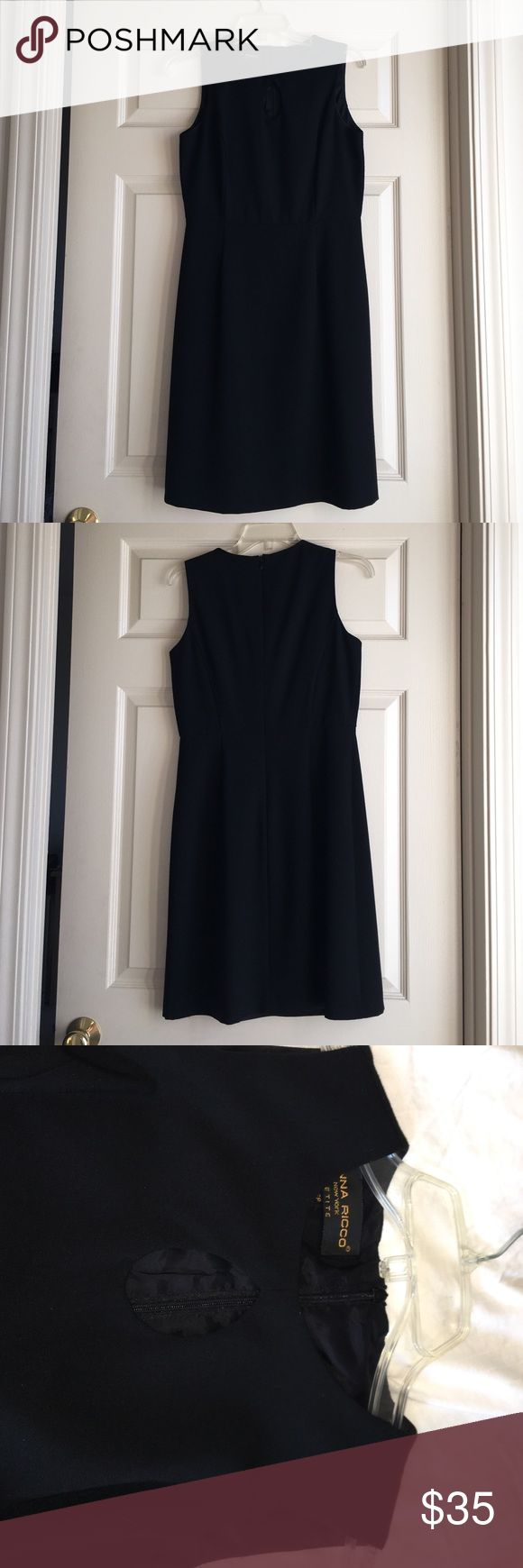 Donna Ricco keyhole Black Cocktail Dress Very classy Donna Ricco Black, Keyhole, fully lined Cocktail Dress. Donna Ricco Dresses Midi