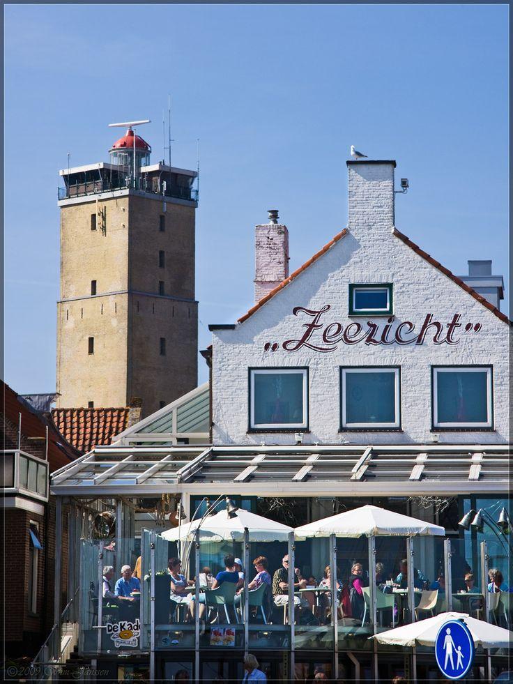 Zeezicht in West Terschelling, Friesland.
