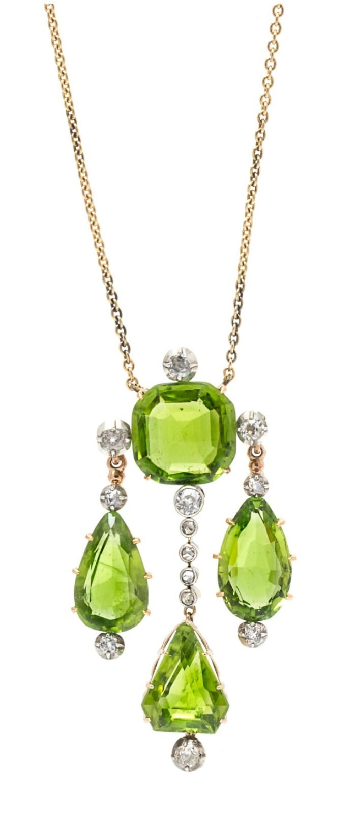 Lots To Love In Leslie Hindman's April Jewelry Sale Peridot  Necklacejewellery