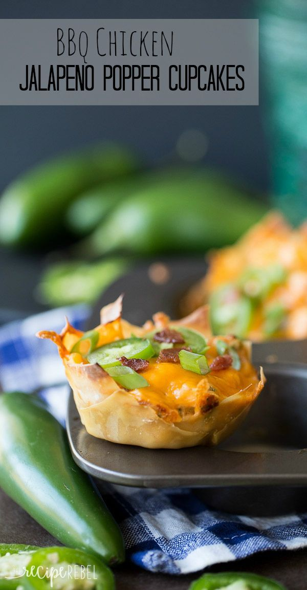 Easy, cheesy jalapeno poppers and barbecue chicken stuffed in a crispy wonton! The perfect appetizer!