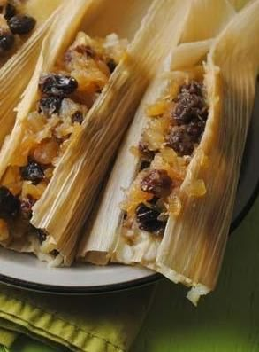 Pineapple Tamales are a fun dessert made with pineapple raisins and brown sugar. #pineapple #dessert #tamale