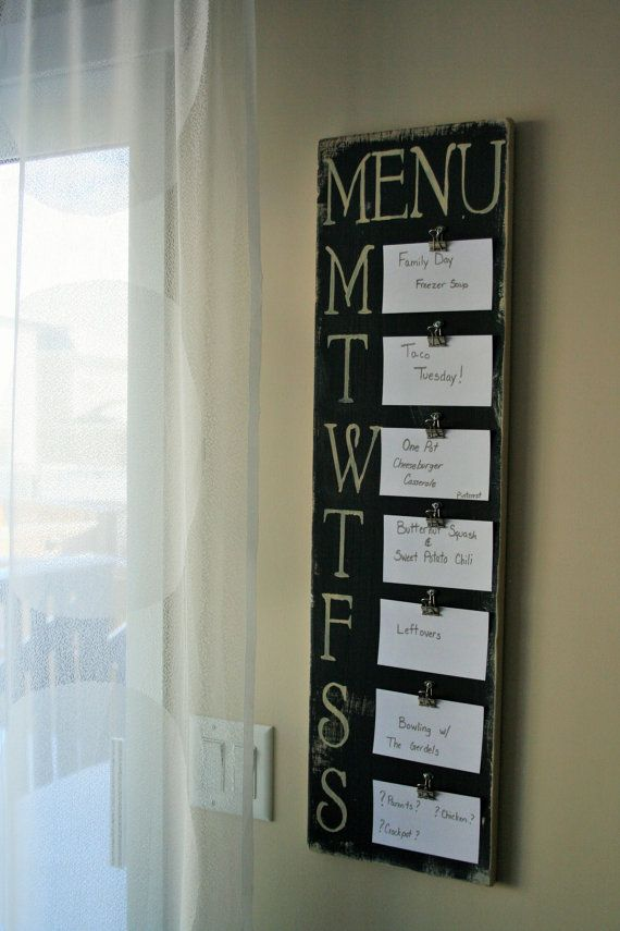 Weekly Meal Planner Board by MugsEmporium on Etsy, $45.00