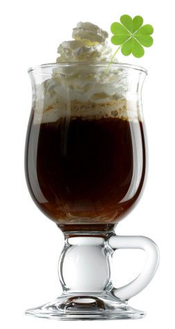 How To Make Irish Coffee — Irish Coffee Recipe Ingredients:  1-1/2 oz Irish whiskey,  1 tsp brown sugar,  6 oz hot coffee,  whipped cream.     Directions:    Combine whiskey, sugar and coffee in a mug and stir to dissolve. Float cold whipped cream gently on top. Do not mix.  As an added treat you can drizzle some Crème de Menthe over the whipped cream.