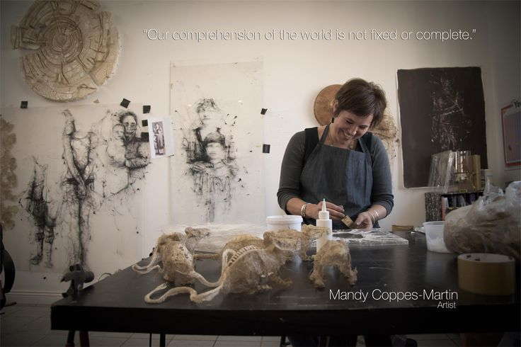 """In Studio with Mandy Coppes Martin preparing for her new Exhibition """"Latent-Not yet real"""""""