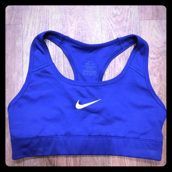 Cobalt blue sports bra to pair with metallic shorts (option)