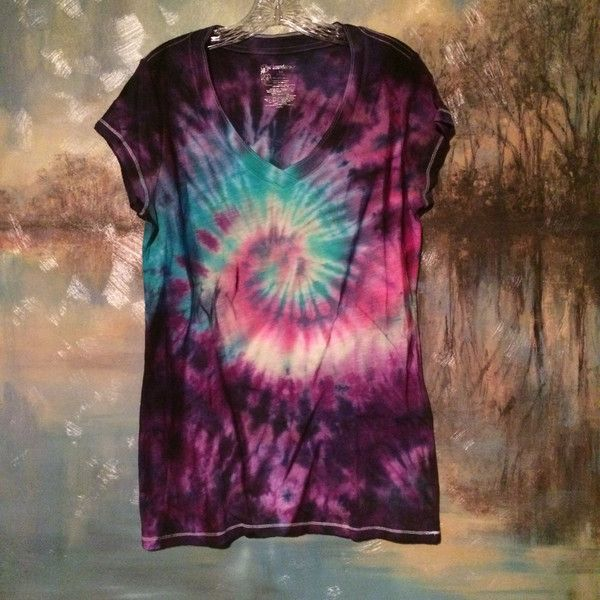 Womens Purple and Neon Colors Galaxy Pattern Tie Dye Womens v-Neck... ($20) ❤ liked on Polyvore featuring tops, t-shirts, dark olive, women's clothing, tiedye t shirts, purple t shirt, tye dye t shirts, olive green t shirt and neon t shirts
