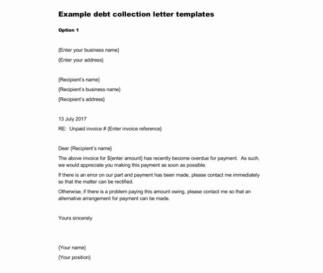 Collection Letters To Customers Unique Sample Debt Collection Letter Templates For Debtors Collection Letter Debt Collection Letters Lettering