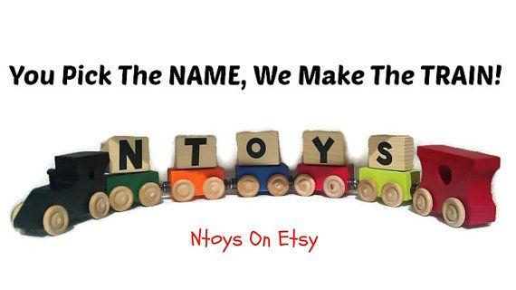 Name Trains Personalized Childrens Gift Toy Sale by Ntoys on Etsy #happythanksgiving #christmasgifts #blackfriday sale