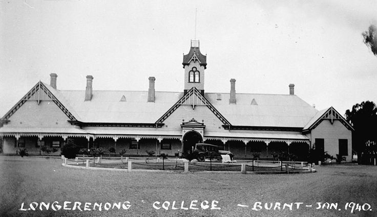 Longerenong Agricultural College, in 1938. It was destroyed in January 1940 - Museum Victoria
