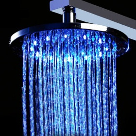 20 inch Stainless Steel Waterfall Shower Head with Color Changing LED Light