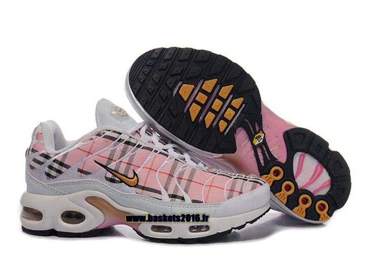 Nike Air Max Tn RequinTuned 1 Chaussures Baskets2016 Pas Cher Pour Femme Fille Pink Blanc
