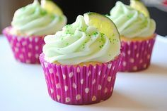 Easy margarita cupcakes made with cake mix and margarita mix.