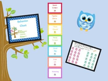 OWL BEHAVIOR CHART 2 - TeachersPayTeachers.com