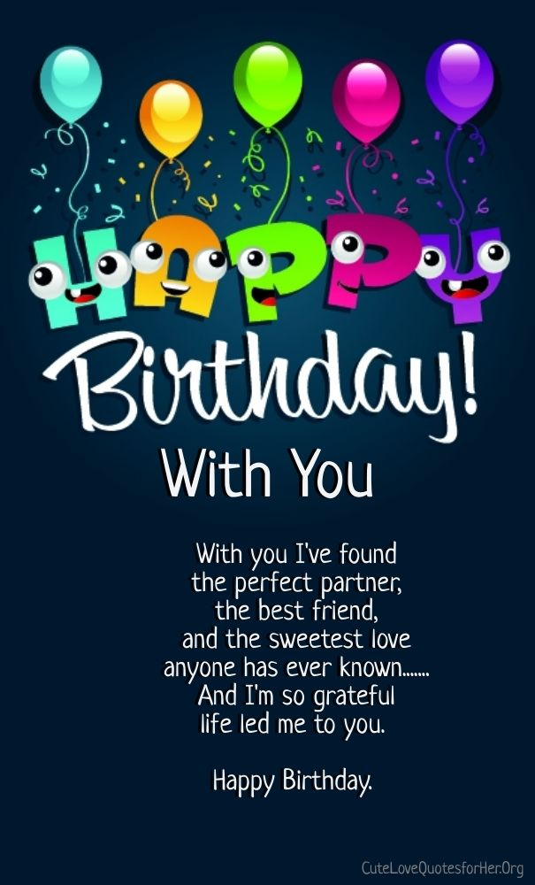 happy birthday love poems for him cute love quotes for