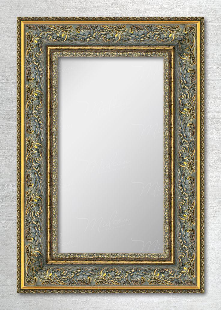Зеркало в раме «Гелиос» красное золото