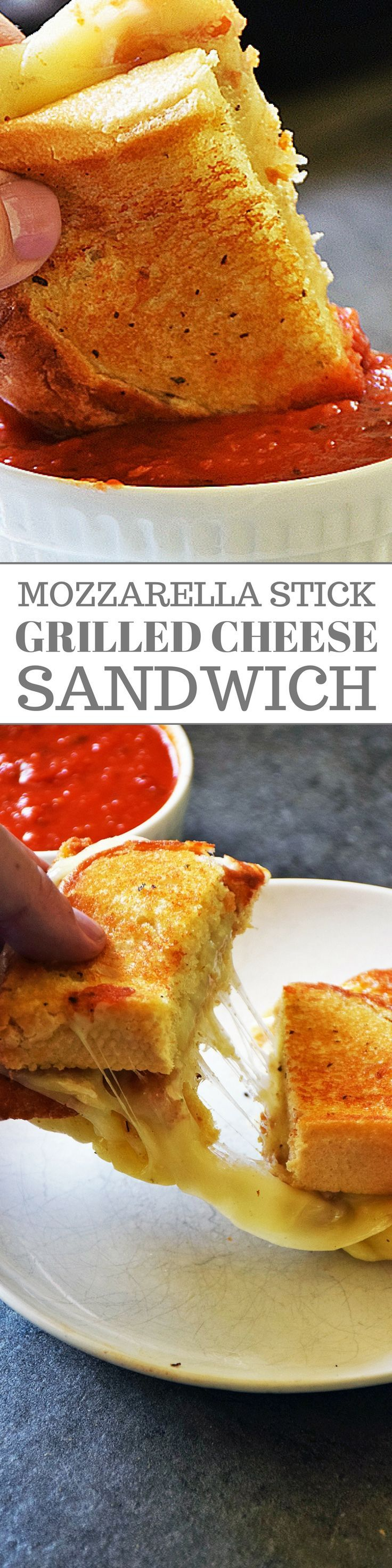 Mozzarella Stick Grilled Cheese Sandwich is having your appetizer and main dish all in one. This easy sandwich recipe is loaded with fried mozzarella sticks and extra mozzarella cheese between 2 pieces of garlic Texas toast and then grilled to golden perfection. Definitely worth the indulgence every once in a while.