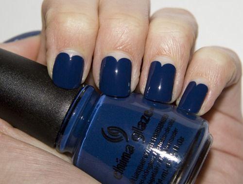 : Nails Art, China Glaze, Heart Shape, Nails Polish, Deep Blue, Blue Heart Nails, Feelings Blue, Blue Heartshap, Blue Nails