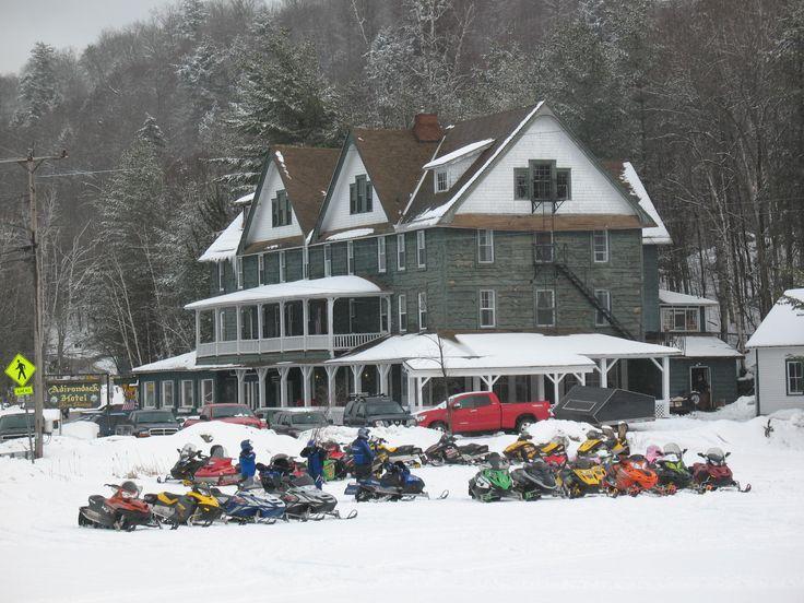 Adirondack Hotel Long Lake Snowmobile Destination