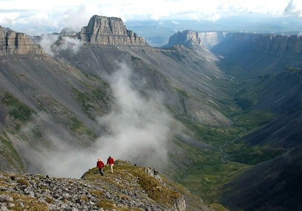 i want to go to the Mackenzie Mts SOOOOOOOOOOOOOOOOOOOOOOOOO bad!!!!!!!!!!!!!!!!!!    Nahanni National Park Reserve in the Dehcho Region of the Northwest Territories, Canada, approximately 500 km (311 mi) west of Yellowknife, protects a portion of the Mackenzie Mountains Natural Region.