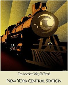 vintage train poster - Google Search