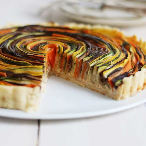http://rubies.work/0208-ruby-rings/ Vegetable Spiral Tart | Bake to the roots