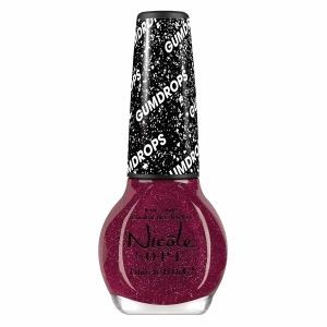 """OPI Nicole by OPI Gum Drops Nail Lacquer, My Cherry Amour - Gumdrops feature a """"sugar-like"""" finish that lightly shimmers with fine glitter particles for a brilliant candy colored finish.  Nicole is the ultimate trendsetter's nail lacquer.  For the girl who wants the hottest colors and style."""